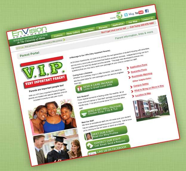 Envision Apartments Parent's Page